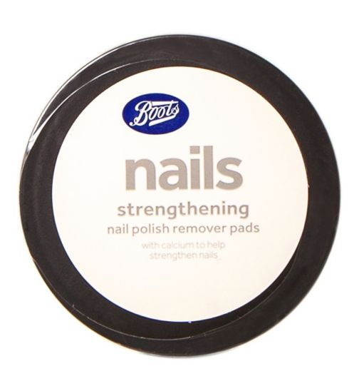 Boots strengthening nail polish remover pads