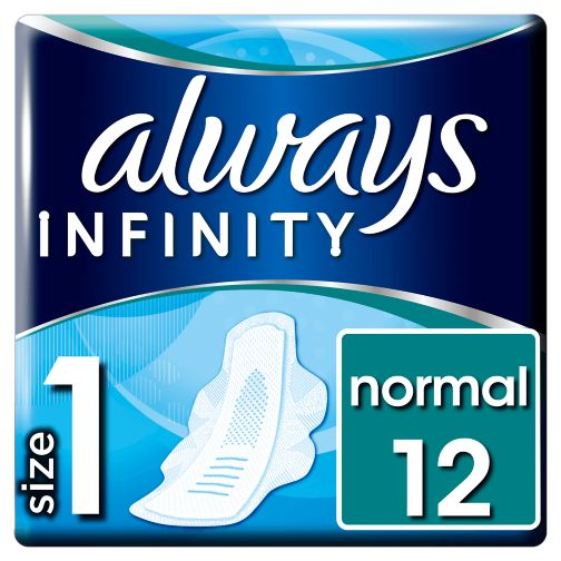 Always Infinity Normal Sanitary Towels With Wings 12x