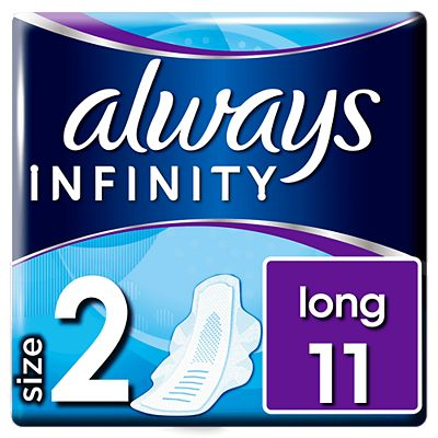 Always Infinity Long Plus with Wings x11 Sanitary Towels