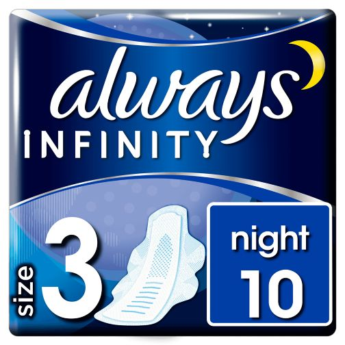 Always Infinity Night x10 Sanitary Towels.