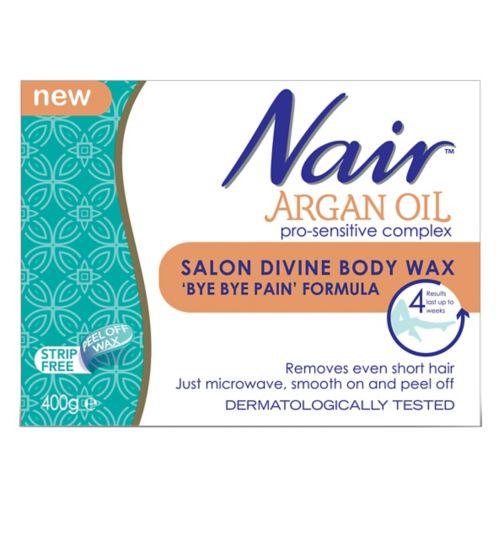 Nair Argan Oil Salon Divine Body Wax 'Bye Bye Pain' Formula