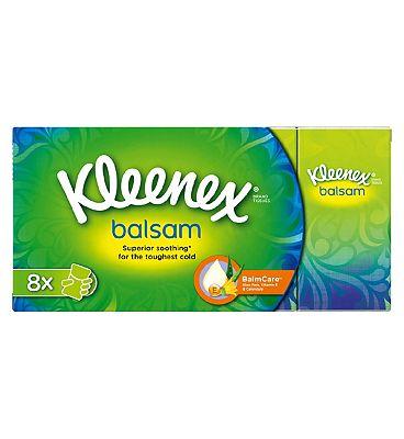 Kleenex Balsam Pocket Tissues - 8 Pack