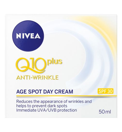 NIVEA Daily Essentials Q10 Plus Anti-Wrinkle Age Spot Day Cream SPF30 50ml