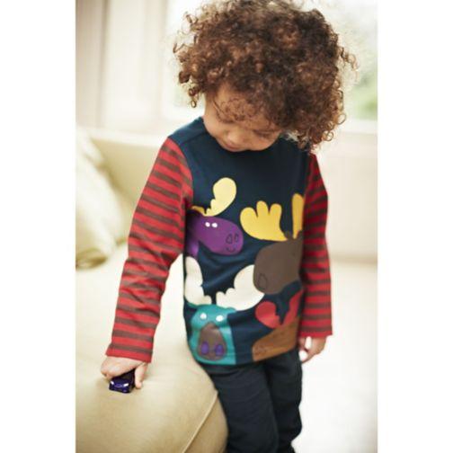 Boys 3 Pack Long Sleeve T-Shirts - Mini Club