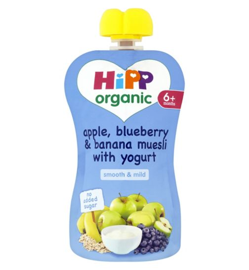 HiPP Organic Apple, Blueberry & Banana Muesli with Yogurt 6+ Months 100g