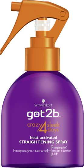 Schwarzkopf got2b Crazy 4 Sleek Days Heat Activated Straightening Spray