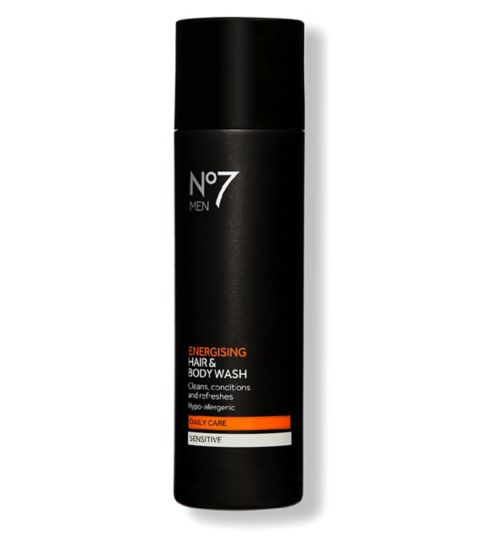 No7 Men Energising Hair & Body Wash 200ml