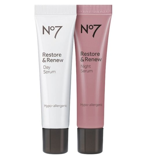 No7 Restore & Renew Day and Night Serum 50ml