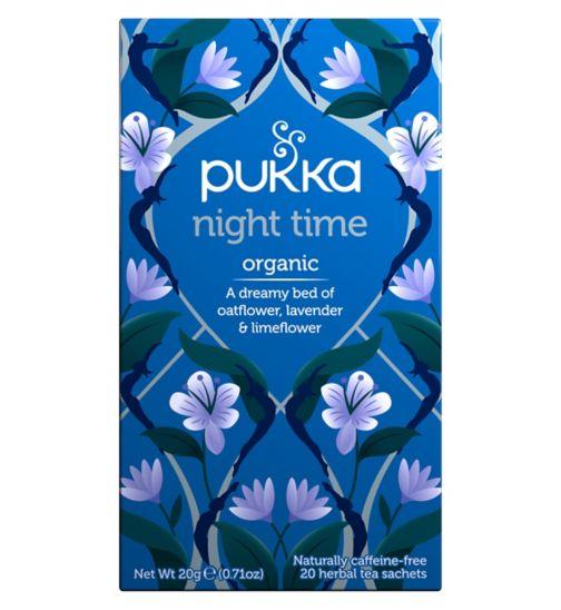 Pukka Organic Night Time Herbal Tea Sachets - 20g