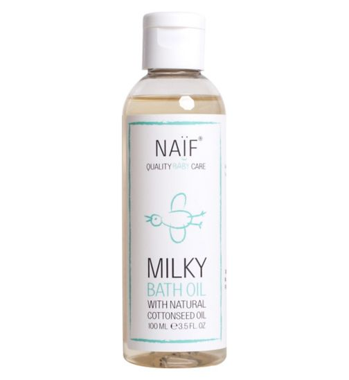 NAIF Milky Baby Bath Oil 100ml