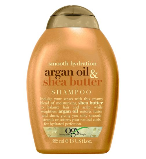 OGX argan oil & shea butter shampoo 385ml