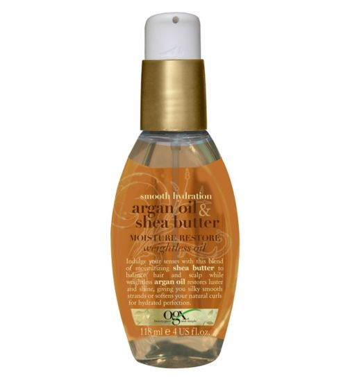 OGX argan oil & shea butter moisture-restore weightless oil 118 ml