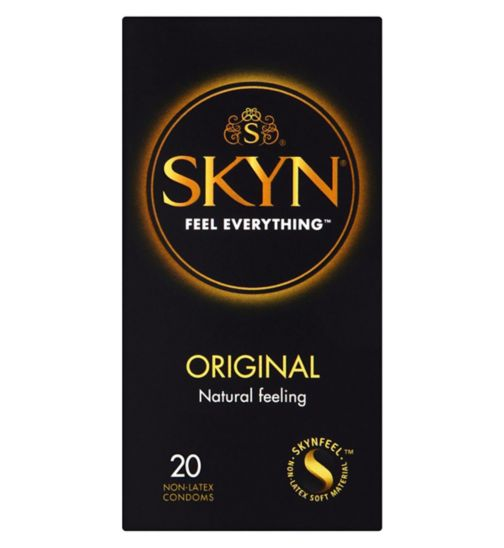 Mates Skyn Original 20 Premium Non-Latex Condoms