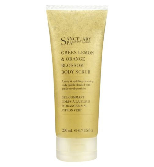 Sanctuary Spa Body Scrub Green Lemon and Orange Blossom 200ml