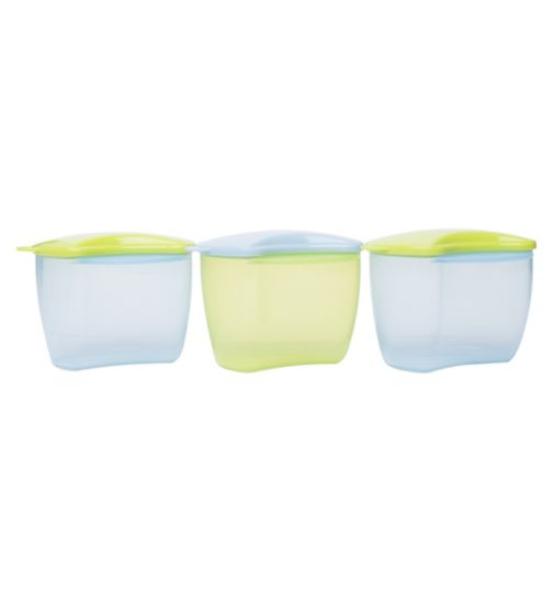 Boots Baby 3 Snack Pots - Blue
