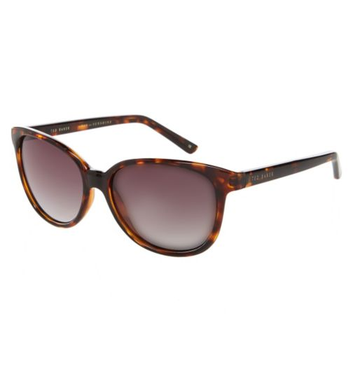 Ted Baker Ladies Oversized Tort Sunglasses with Smoke Lenses