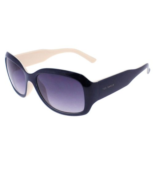 Ted Baker Ladies Oversized Rectangle Frame in Navy and Cream