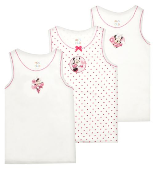 Girls Minnie Mouse vests - Mini Club