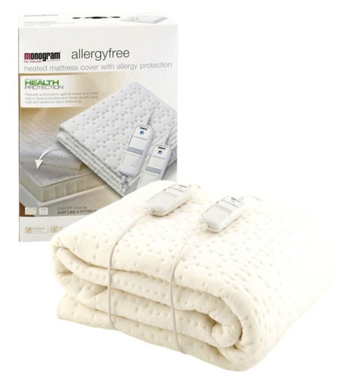 Monogram By Beurer Allergyfree Heated Mattress Cover Double Dual
