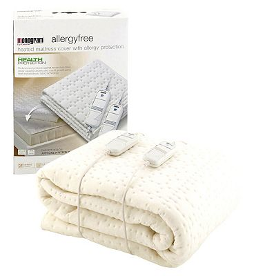 Monogram by Beurer Allergy free Heated Mattress Cover-Super King/Dual