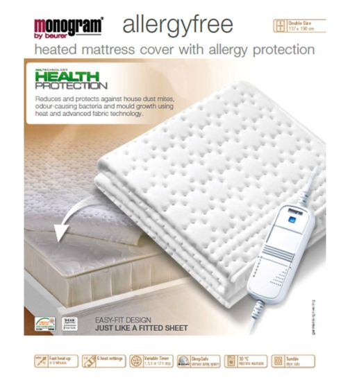 Monogram by Beurer Allergyfree Heated Mattress Cover-Double
