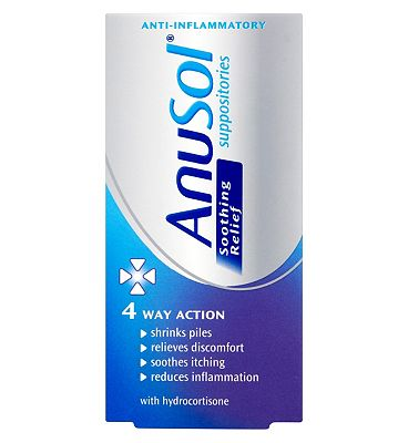 Anusol Soothing Relief Suppositories 12 Pack