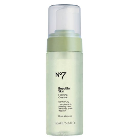 No7 Beautiful Skin Foaming Cleanser for Normal / Oily Skin 150ml