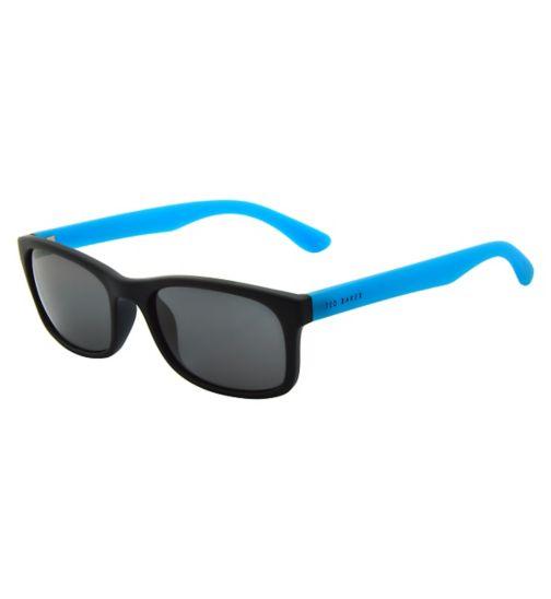Ted Baker Mens Black and Blue Wayfarer Sunglasses