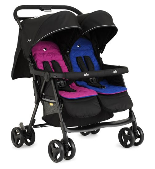 Joie Aire Twin Stroller pink/blue