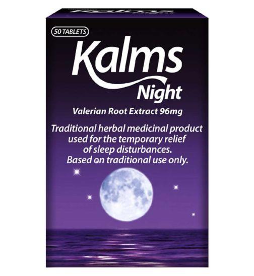 Kalms Night Valerian Root Extract 96mg - 50 Tablets