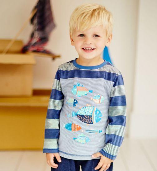 Boys 3 Pack Long Sleeved T-Shirts - Mini Club