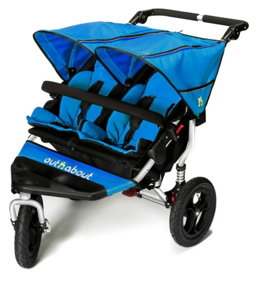 Out n About Nipper Double V4 Twin Pushchair - Lagoon Blue