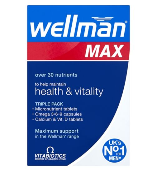 Vitabiotics Wellman Max - 84 Tablets
