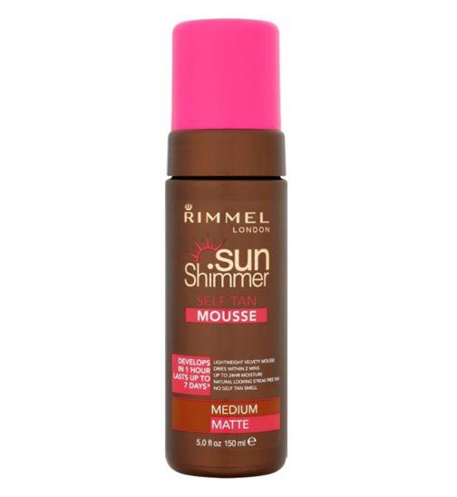 Rimmel London Sun Shimmer Self Tan Mousse Medium Matte 150ml