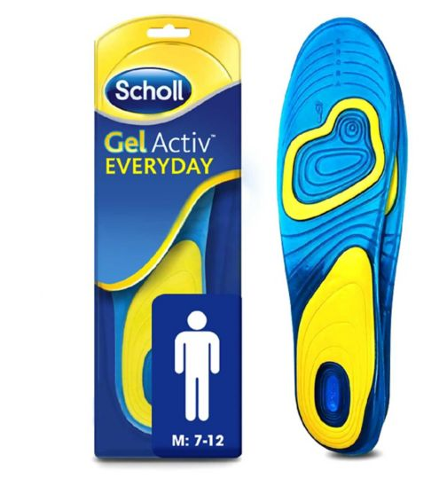 Scholl Gel Everyday Insoles - Men