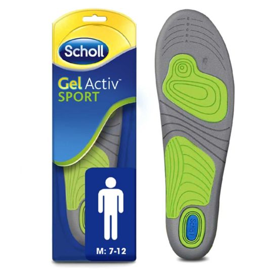 Scholl Gel Sport Insoles - Men