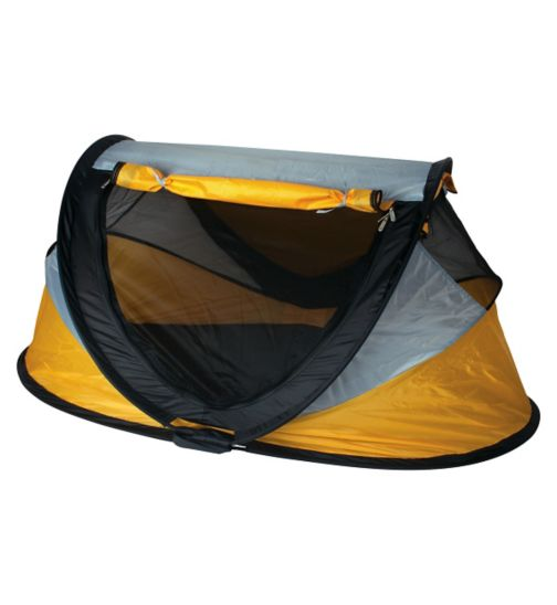 NSA Deluxe Travel Cot & UV Travel Centre - Yellow