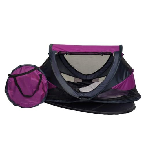 NSA Deluxe Travel Cot & UV Travel Centre - Purple