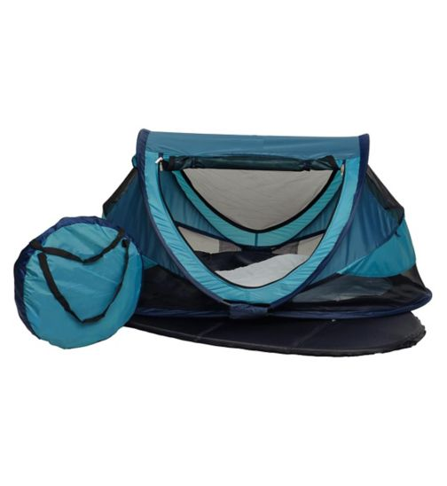 NSA Deluxe Travel Cot & UV Travel Centre - Ocean Blue