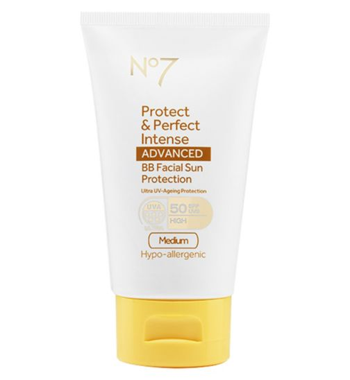 No7 Protect & Perfect Intense ADVANCED BB Facial Sun Protection SPF50 Medium 50ml