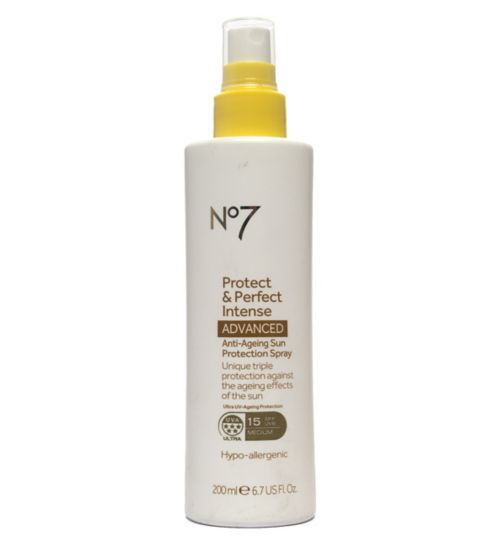 No7 Protect & Perfect Intense ADVANCED Anti-Ageing Sun Protection Spray SPF 15 200ml