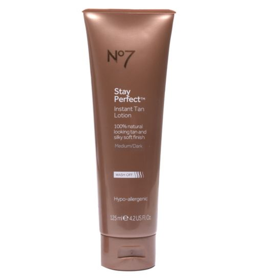 No7 Stay Perfect Instant Tan Lotion Medium/Dark 125ml