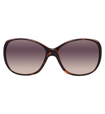 Boots Ladies Classic Tortoiseshell Sunglasses With Gold Metal Detail