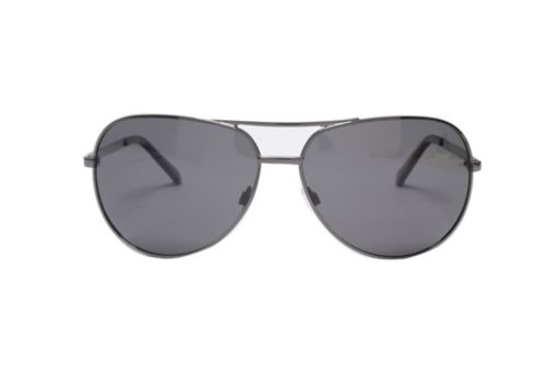 Boots Polarised Mens Large Gunmetal Aviator Sunglasses