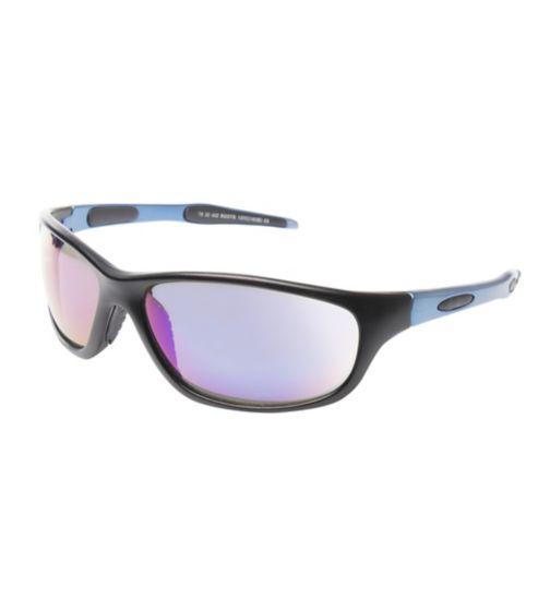 Boots Active Matt Black Sports Wrap Sunglasses