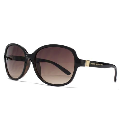 French Connection Woman sunglasses - Black frame with hinge detail