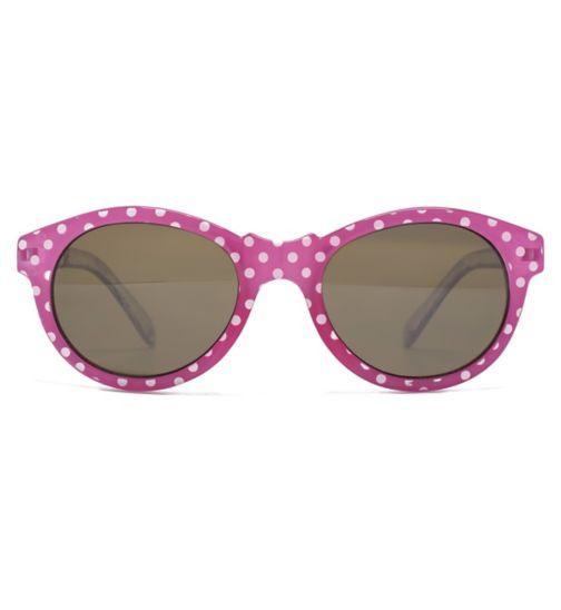 Monkey Monkey Pink Polka Dot Kids Sunglasses