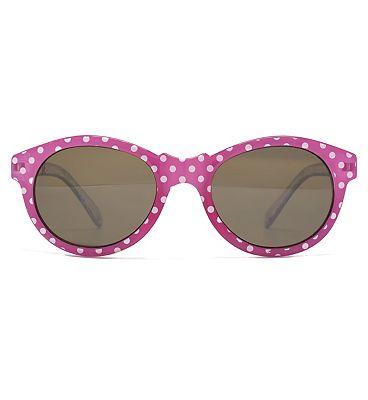 Monkey Monkey Girls Pink Polka Dot Sunglasses