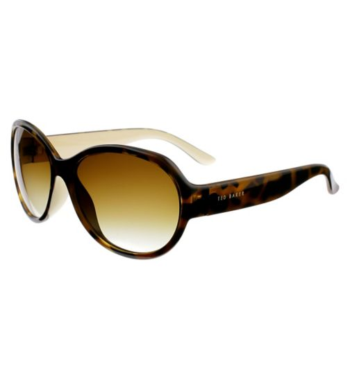 Ted Baker Ladies Oval Cream and Tort Sunglasses