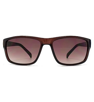 French Connection Man crystal brown sunglasses